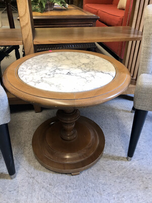 Round Marble End Table