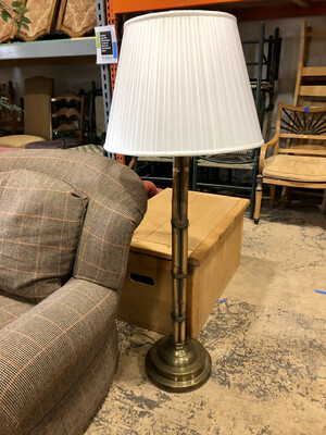 Bamboo and Brass Lamp