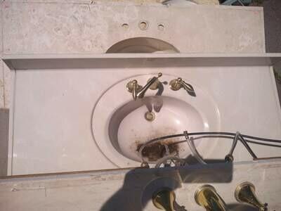 Single Counter Top W/Faucet