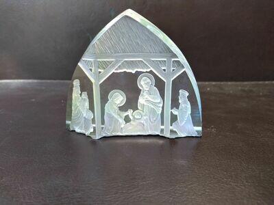 Etched Nativity Scene