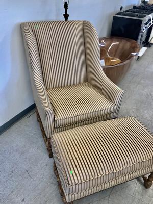 Silk Wingback Armchair