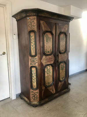 Swedish Hand Painted Armoire