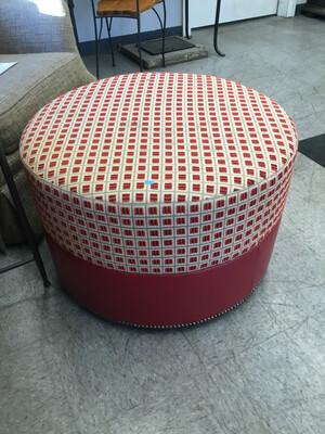 Red Circular Ottoman