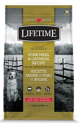 Lifetime All Life Stages Pork & Oatmeal Recipe 2.27kg