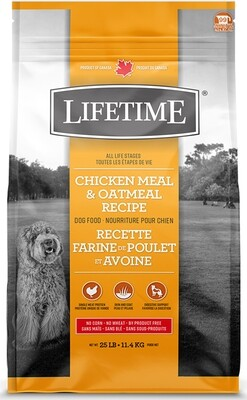 Lifetime All Life Stages Chicken & Oatmeal Dog Food 11.4kg