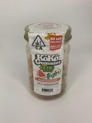 Koko Gummies - tajin Watermelon (500mg - 50mg each)