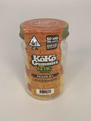 KoKo Gummiez - Peach O's  (500MG - 50MG Each)