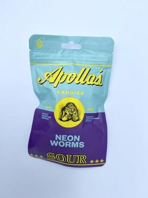 Apollo's Sour Neon Worms (400mg)
