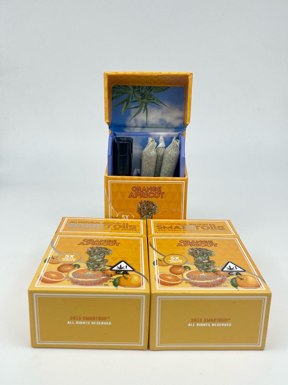 Smart Rolls - Premium Flower- Orange Apricot (Hybrid) 3.75g Total