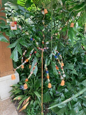 *Bead and bell garden stake