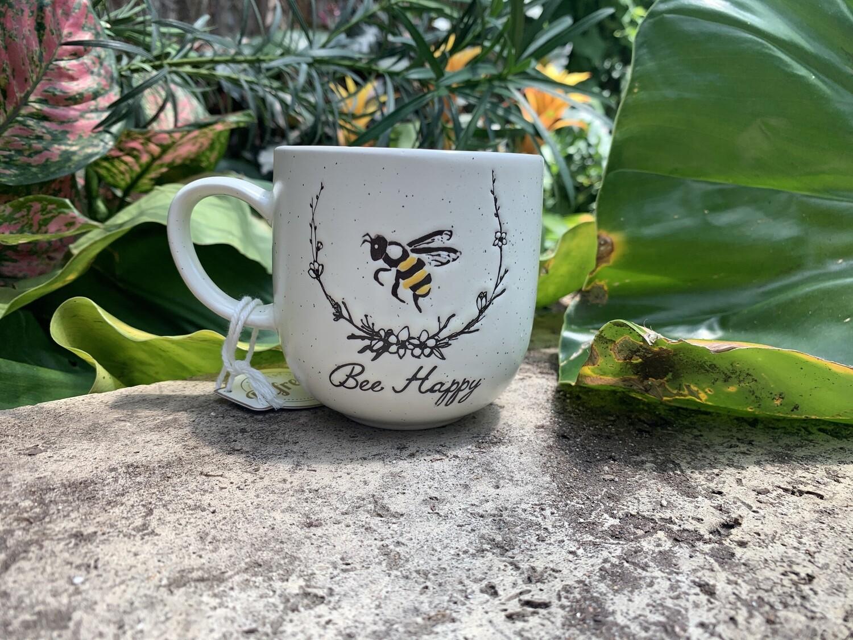 """*""""Bee Happy"""" Bee Mug"""