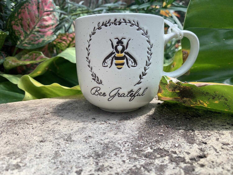"""*""""Bee Grateful"""" bee mug"""