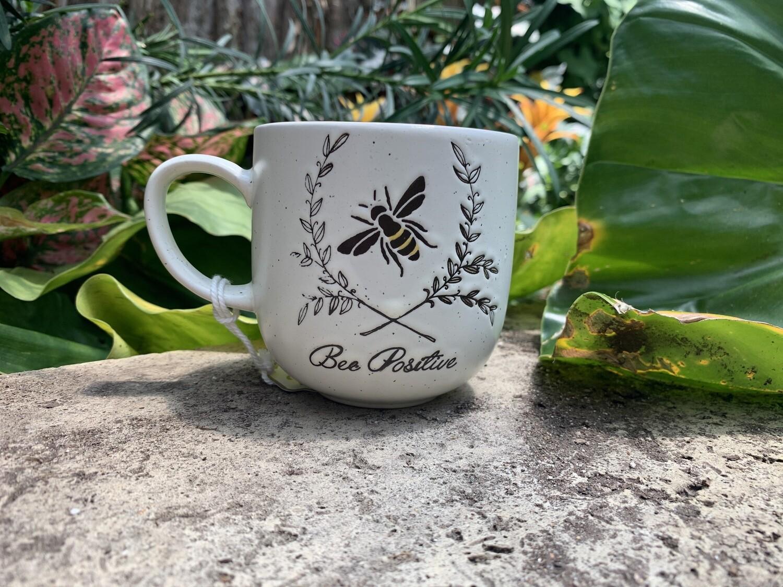 """*""""Bee Positive"""" Bee Mug"""