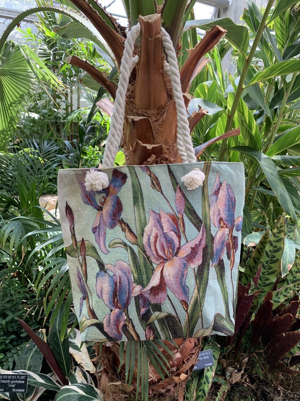 *Tote Bag with Purple Iris