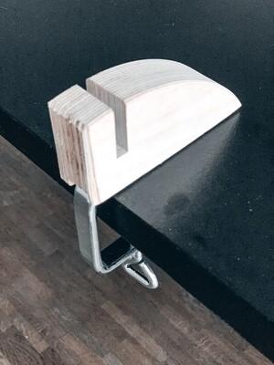 Holzfuss mit Verschraubung für 6 mm Glas
