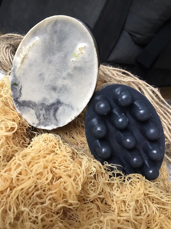 Activated Charcoal-Sea-moss Blend Oregano, tea-tree, Calendula Oil,Shea Butter