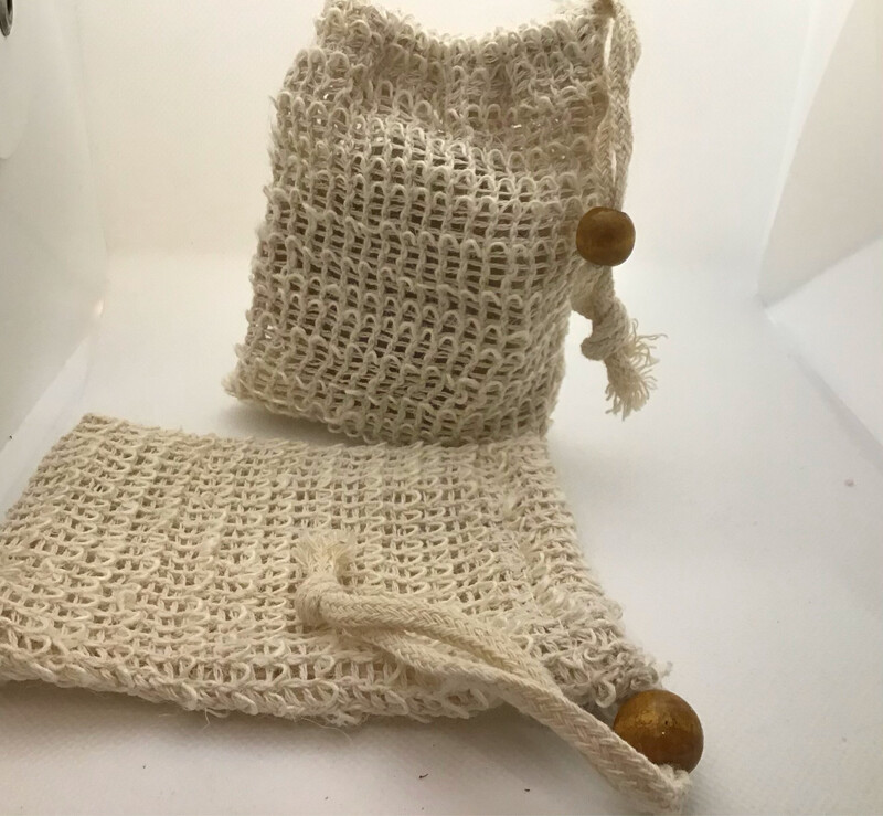 Sisal Shower Bags For Washing With Soap