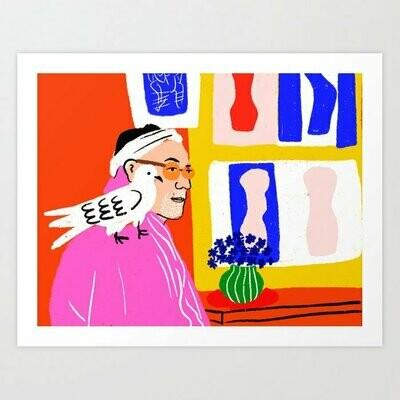 Matisse y su amigo Art Print a pedido
