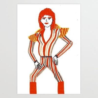 Bowie Art Print a pedido