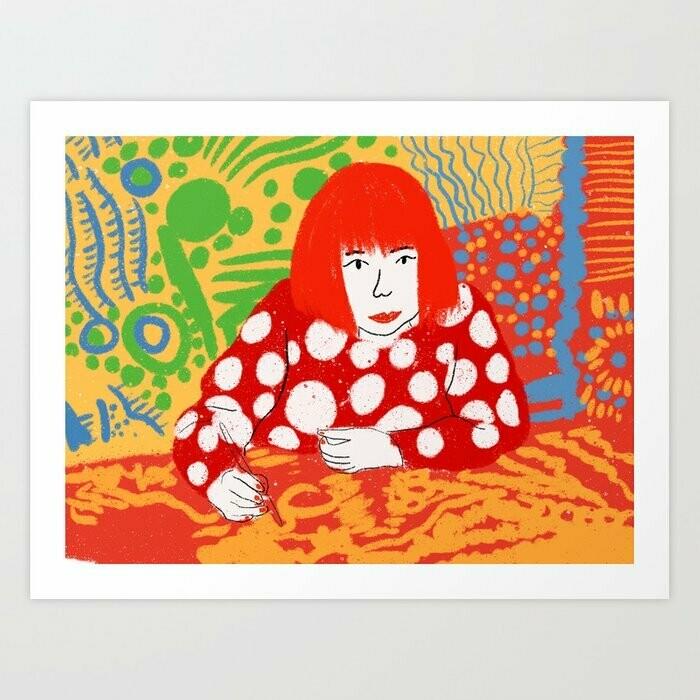 Yayoi Kusama Art Print a pedido