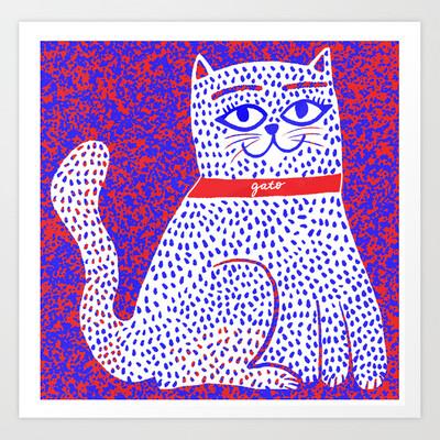Gato Art Print a pedido