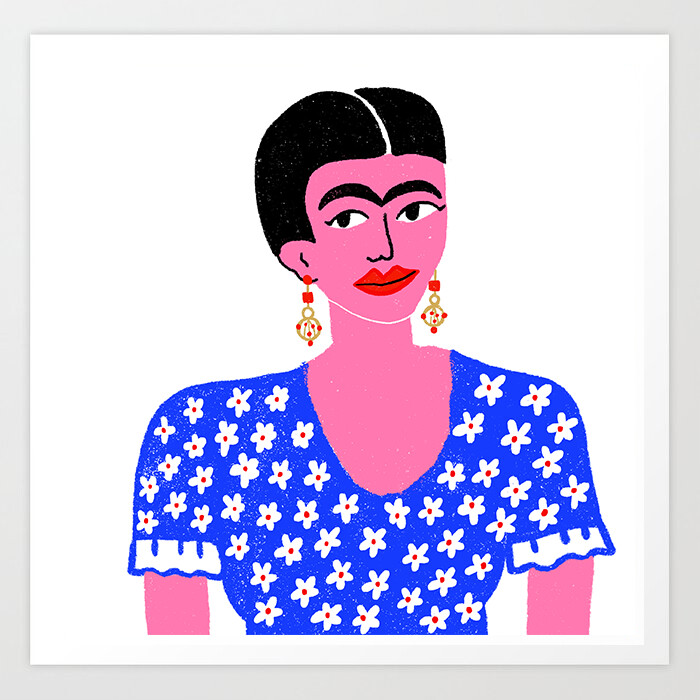 Frida Kahlo Art Print a pedido