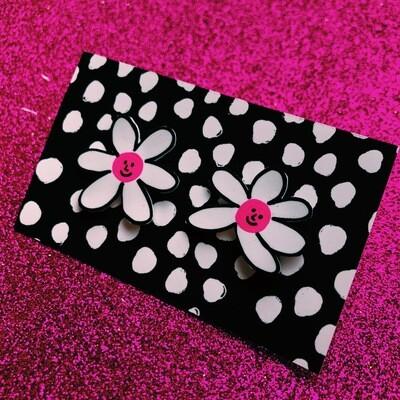 Pin pink flower power