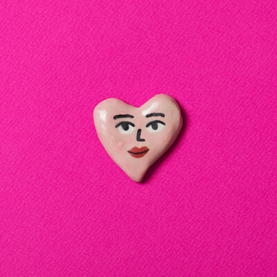 Pink heart para pared