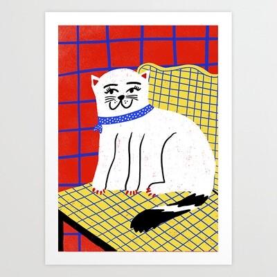 Gato Cat Art Print a pedido