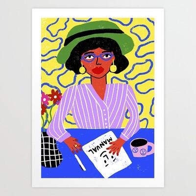 Home Office Art Print a pedido