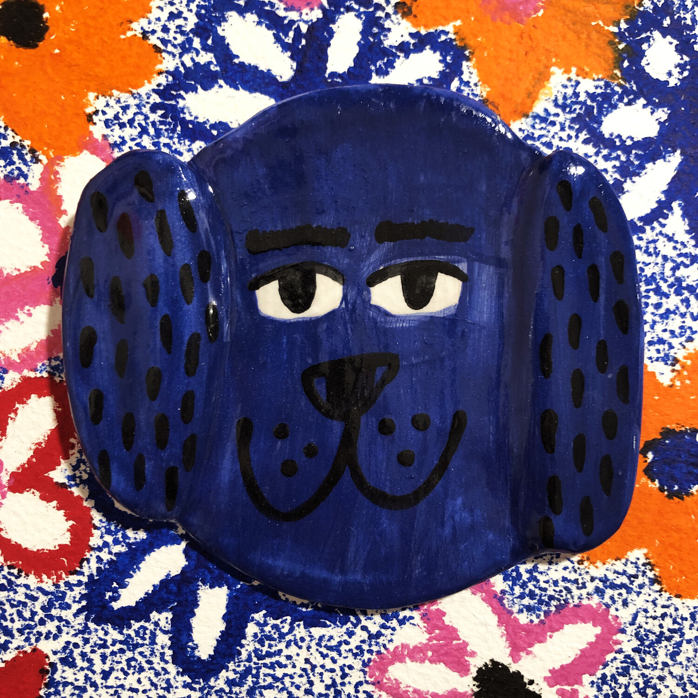 Blue dog para pared