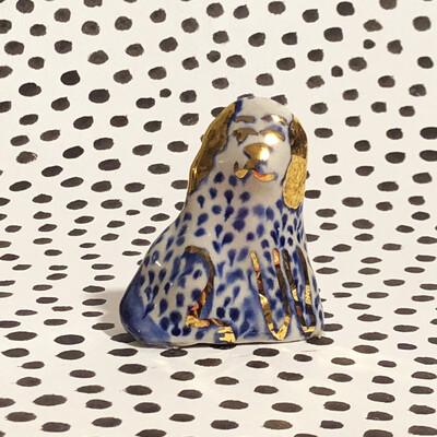 Blue golden dog
