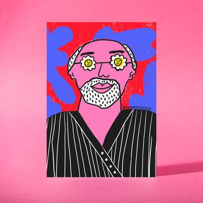 "Art Print ""Matisse ve flores"""