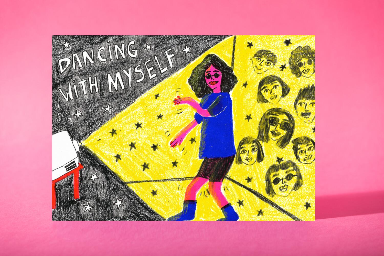 "Art Print ""Dancing with myself"""