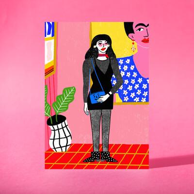 """Art Print """"En el Museo"""""""