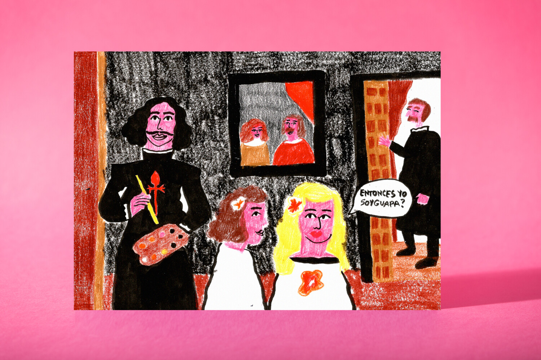 "Art Print ""Velazquez dime que soy guapa"""