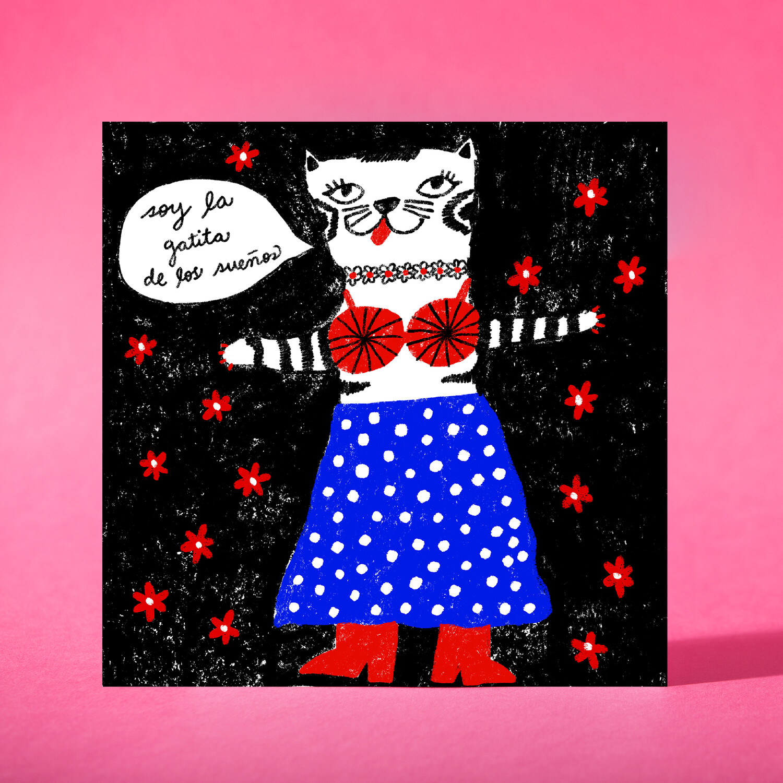 """Art print """"La gatita de los sueños"""""""