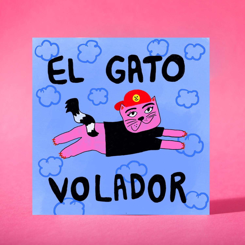 "Art print ""El gato volador"""