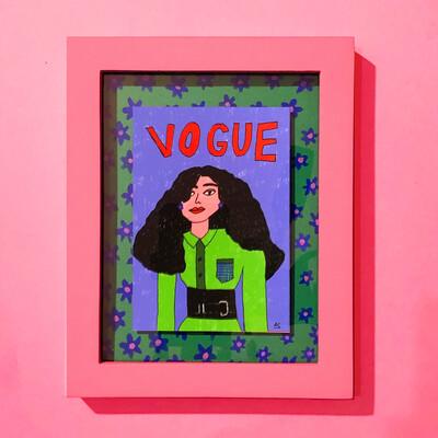 """Art Print """"Vogue"""" Enmarcado"""