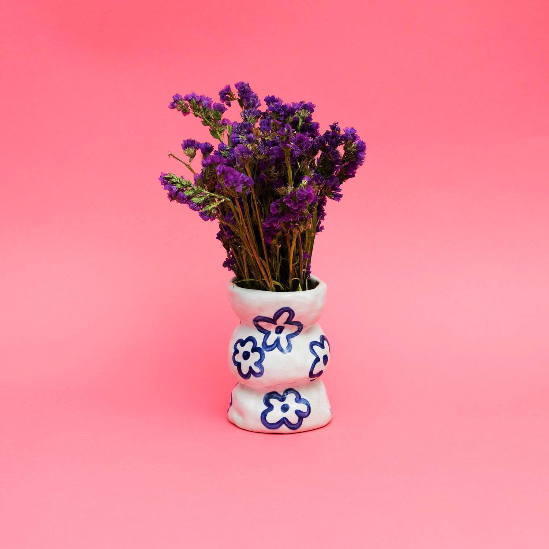 """Florero """"Flores azulitas"""""""