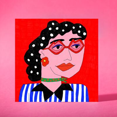 """Art print """"More than a woman"""""""