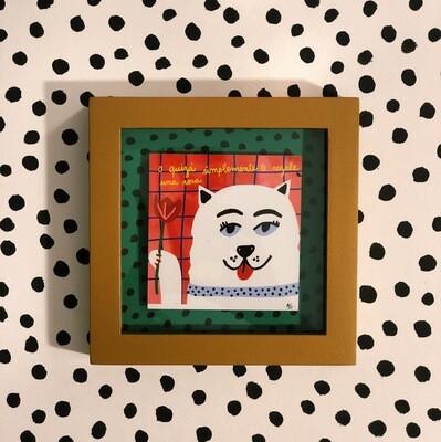 """Art Print """"Una rosa"""" Enmarcado"""