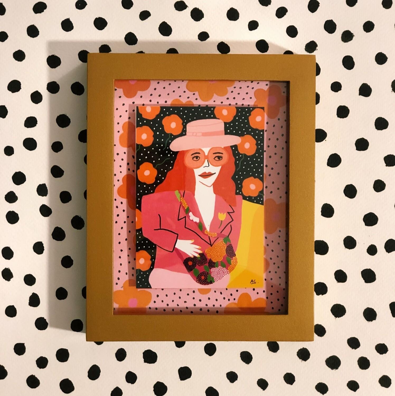 "Art Print ""Gucci Pink"" Enmarcado"