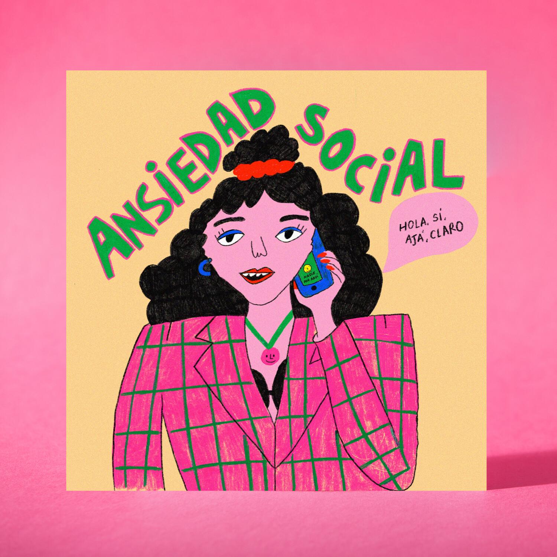 "Art print ""Ansiedad social"""