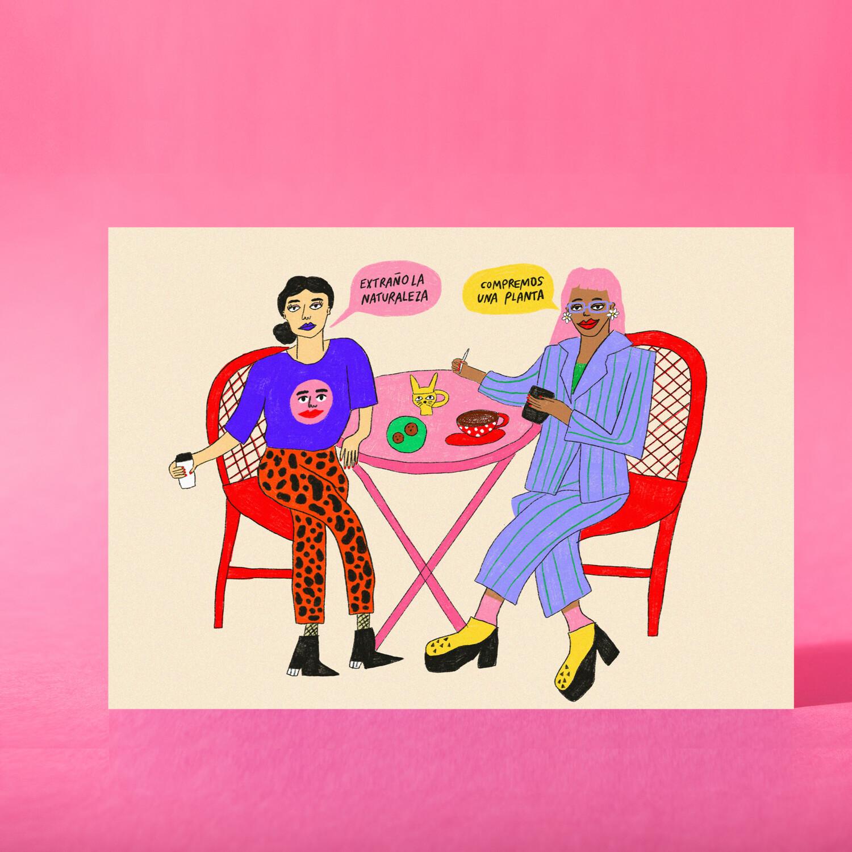 """Art Print """"Compremos una planta"""""""