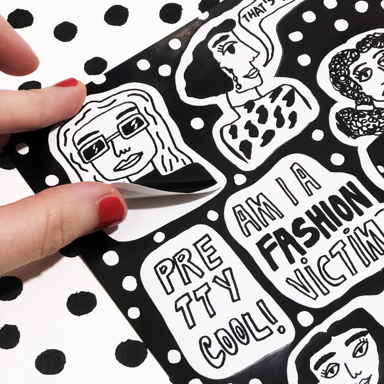"Stickers ""Fashion Victim"""