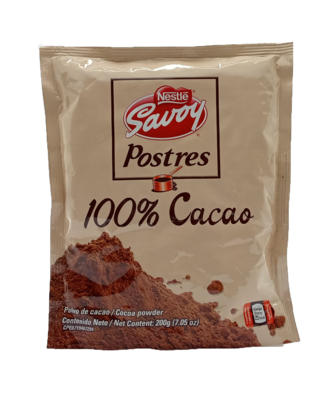SAVOY POSTRES 100% CACAO EN POLVO 200GR (12423747)