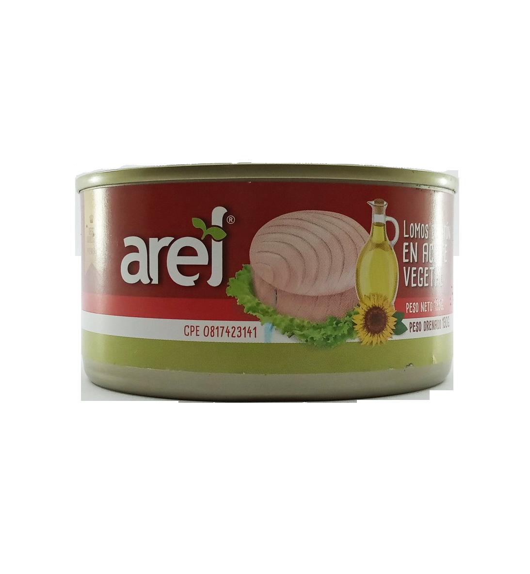 AREL LOMOS DE ATUN EN ACEITE VEGETAL 185GR