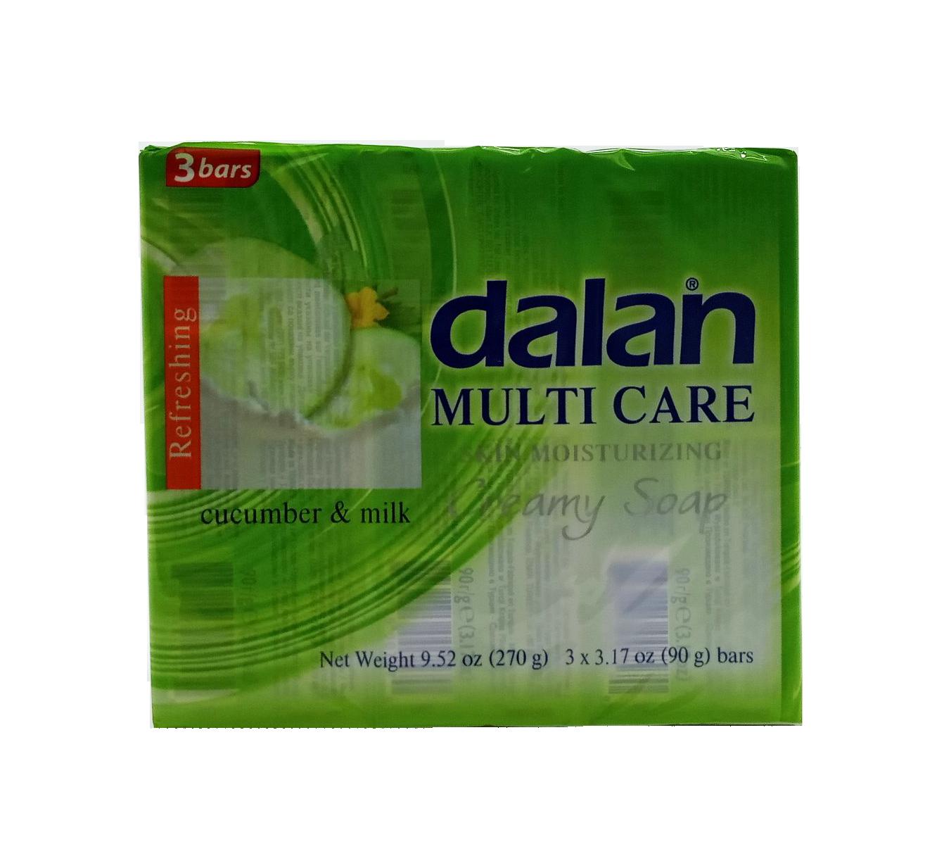 DALAN JABON MULTICARE PEPINO C/LECHE 3X90GR