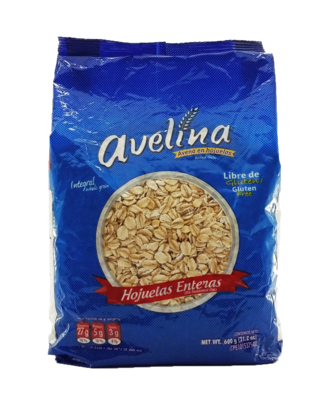 AVELINA AVENA HOJUELAS ENTERA 600GR